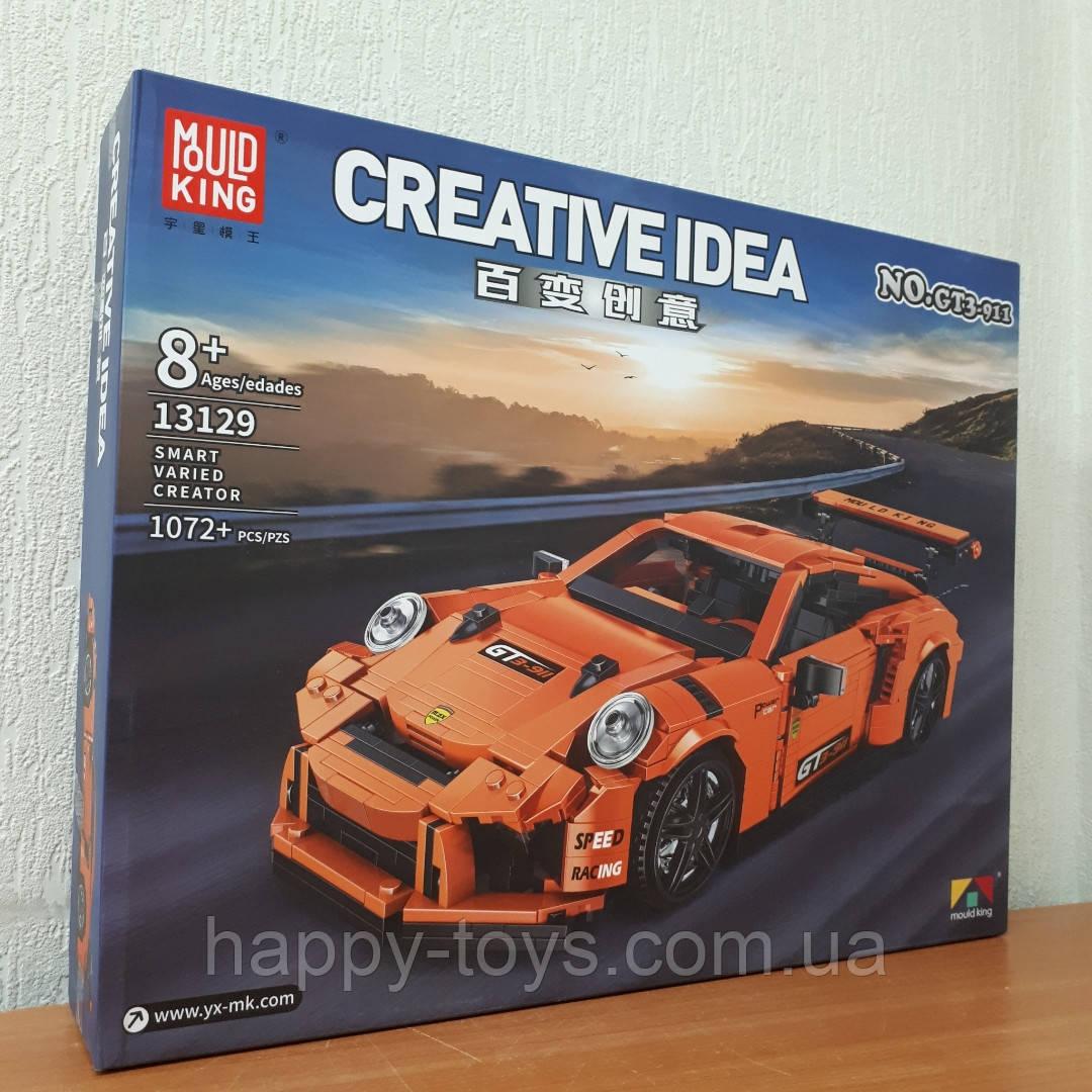 Конструктор Porsche 911 GT3 Create Порше 911 ГТ3 Mould King 13129 1072 деталей