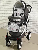 Ортопедический кокосовый матрас для коляски Ok Style Коты Красные
