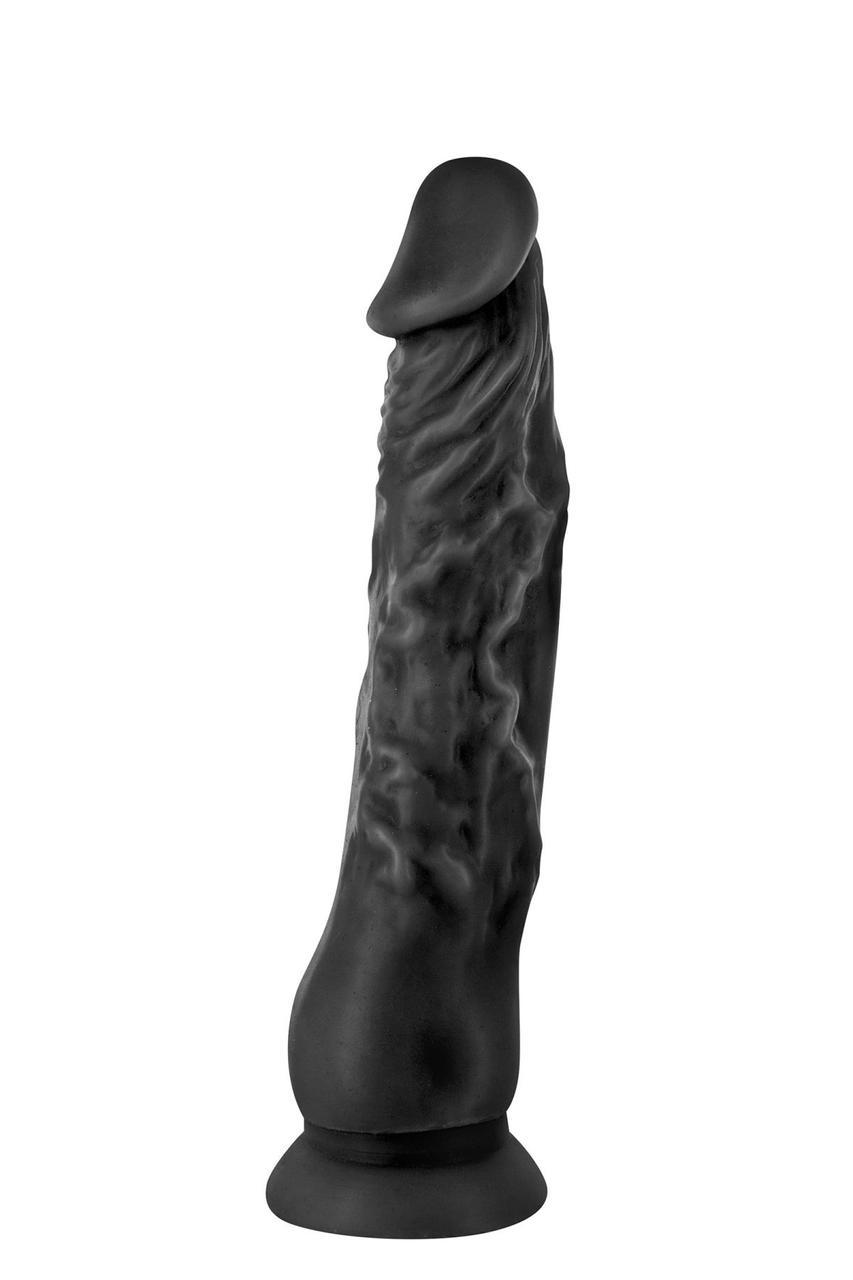 Фаллоимитатор с присоской Real Body - Real Justin Black, TPE, диаметр 4,2см