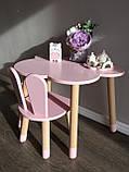 Дитячий стіл, 1 стілець (зайчик і столик хмара), фото 5