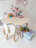 Дитячий стіл, 1 стілець (зайчик і столик хмара), фото 4