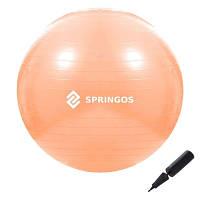 Мяч для фитнеса фитбол Springos 55 см Anti-Burst Orange SKL41-277822