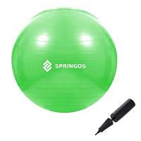 Мяч для фитнеса фитбол Springos 65 см Anti-Burst Green SKL41-277823