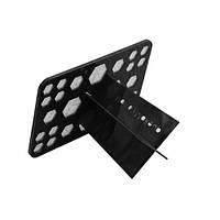 Подставка для сушки и хранения кистей прямоугольная (на 26 шт., черная)
