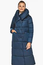 Куртка сапфировая женская зимняя с манжетами модель 46150, фото 2