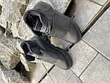 Подростковые ботинки кожаные зимние черные Monster A, фото 2