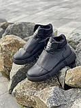 Подростковые ботинки кожаные зимние черные Monster A, фото 3