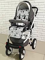 Ортопедический кокосовый матрас для коляски Ok Style Микки Бирюзовые