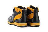 Подростковые ботинки кожаные зимние черные-рыжие Brand T2, фото 3