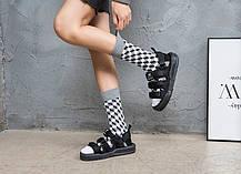 Высокие носки Friendly Socks серые с оптическим принтом, фото 2