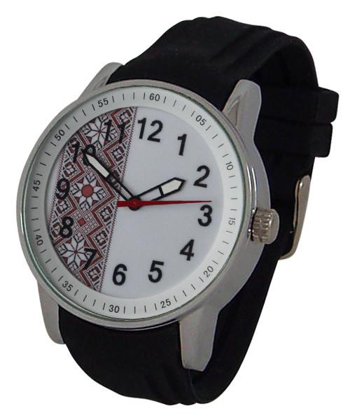 Часы мужские красная вышиванка на белом NewDay