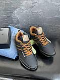 Подростковые кроссовки кожаные весна/осень черные-коричневые Splinter Boy 5312, фото 6