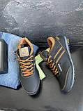 Подростковые кроссовки кожаные весна/осень черные-коричневые Splinter Boy 5312, фото 7