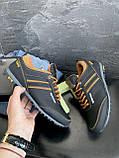 Подростковые кроссовки кожаные весна/осень черные-коричневые Splinter Boy 5312, фото 8