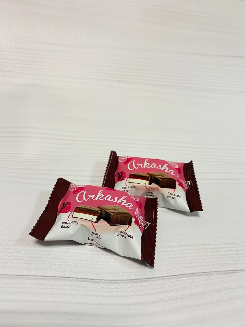 Конфеты Аркашка со вкусом малины 2,5кг. ТМ Лапотушка