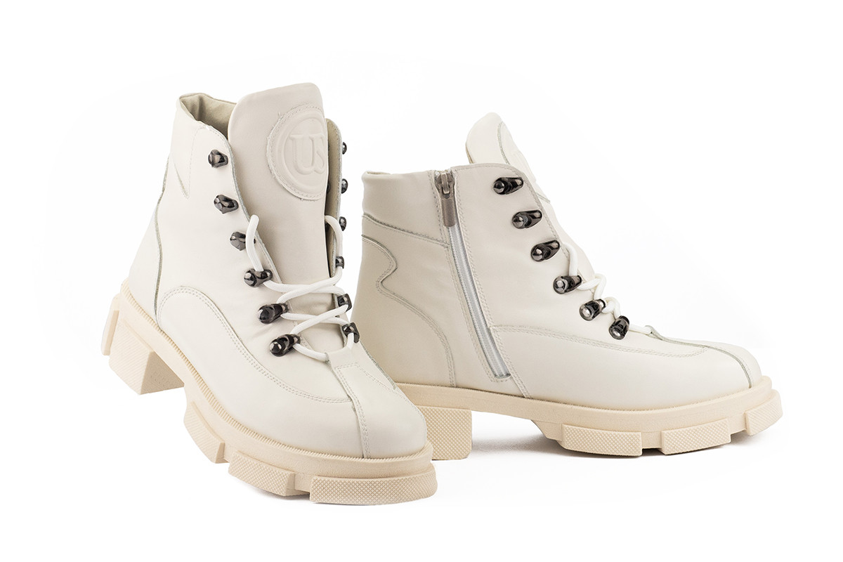 Женские ботинки кожаные зимние бежевые U Spirit 5037