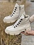 Женские ботинки кожаные зимние бежевые U Spirit 5037, фото 2