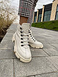 Женские ботинки кожаные зимние бежевые U Spirit 5037, фото 3
