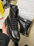 Женские ботинки кожаные зимние черные Yuves 31270 На Меху, фото 3