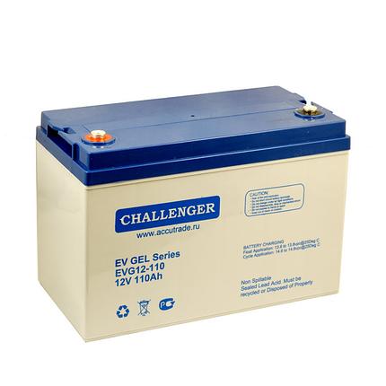 Гелевый аккумулятор для поломоечной машины Challenger EVG12-110 (12 Вольт, 110 Ач), фото 2