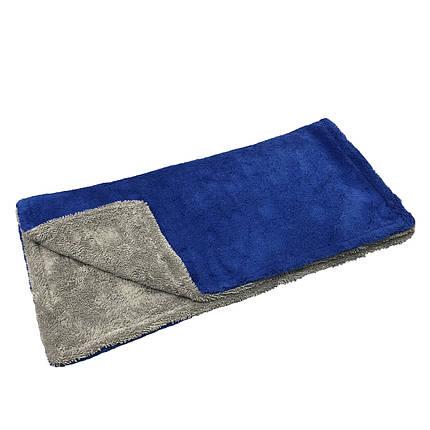 Полотенце для сушки - Autofiber Amphibian 50x75 см. 1100 gsm серо/синее (TTX1100GYB2030-1), фото 2