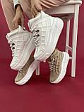 Женские ботинки кожаные зимние бежевые Best Vak БЖ-59-505, фото 3