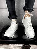 Женские кроссовки кожаные весна/осень белые Yuves R 250, фото 3