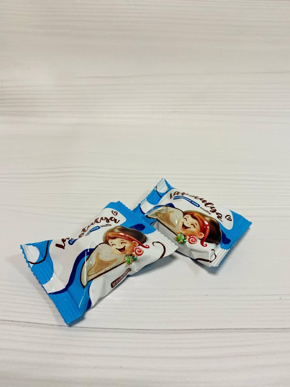 Конфеты Суфле Лапотуля со вкусом сгущеного молока 2,5кг. ТМ Лапотушка