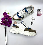Женские кроссовки кожаные весна/осень белые ANRI-de-colo 662/114-б, фото 10