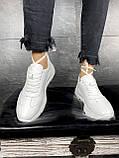Женские кроссовки кожаные весна/осень белые Brand 040-б, фото 7