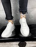 Женские кроссовки кожаные весна/осень белые Brand 040-б, фото 10