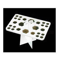 Подставка для сушки и хранения кистей прямоугольная (на 26 шт., белая)