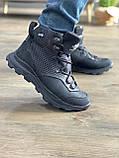 Мужские ботинки кожаные зимние черные-нубук Extrem 1220/59-01, фото 3