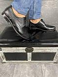 Мужские туфли кожаные весна/осень черные Vivaro 611 (Oxford), фото 3