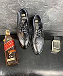 Мужские туфли кожаные весна/осень черные Vivaro 611 (Oxford), фото 6