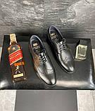 Мужские туфли кожаные весна/осень черные Vivaro 611 (Oxford), фото 8