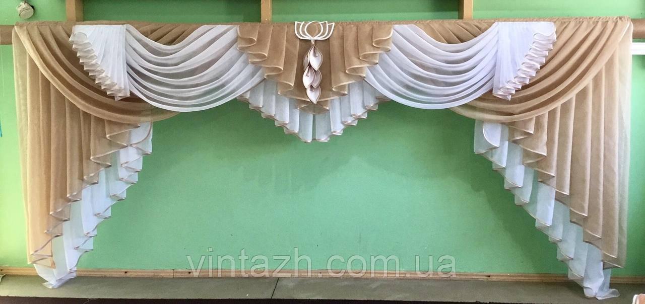 Шикарный ламбрекен в спальню ручной работы в Украине