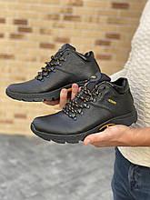 Мужские ботинки кожаные зимние черные Anser 130