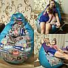 Кресло Мешок, бескаркасное кресло Груша ,Пуф  ХХL 130*90 см (средний) Ткань Оксфорд 600 ( моющаяся) +Принт !, фото 2