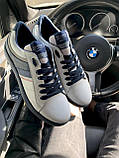 Мужские кеды кожаные весна/осень белые-синие Splinter Relaxed 1320, фото 6