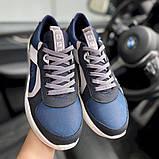 Мужские кроссовки кожаные весна/осень синие-белые Splinter Isotex 0820, фото 7
