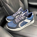 Мужские кроссовки кожаные весна/осень синие-белые Splinter Isotex 0820, фото 8