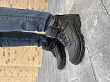 Мужские кроссовки кожаные зимние черные Shark B 223, фото 2