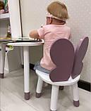 Стол полуоблако с пеналом и 1 стул бабочка, фото 4