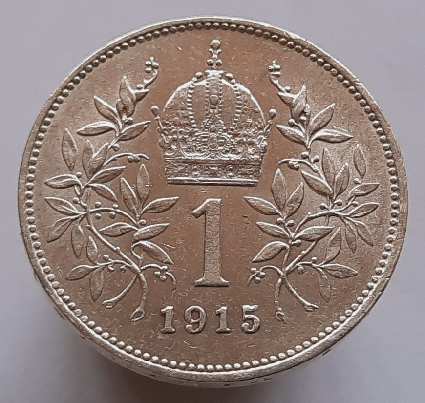 Австрия 1 крона 1915 Серебро