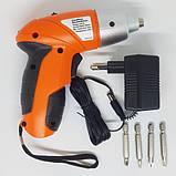Электрическая отвертка-шуруповерт TUOYE с битами и адаптером, фото 3