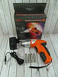 Электрическая отвертка-шуруповерт TUOYE с битами и адаптером, фото 8