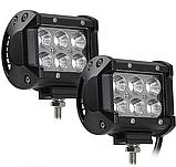 Фара LED (6 LED) 5D-18W-SPOT Светодиодная дополнительная автомобильная автофара на крышу противотуманка, фото 2
