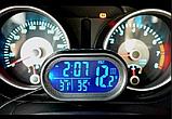Автомобильные часы с термометром и вольтметром VST 7009 V, фото 4