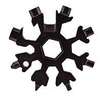 Универсальный ключ Снежинка (черный) Multitool Snowflake Tool гаечный (и не только) с доставкой, Инструменты